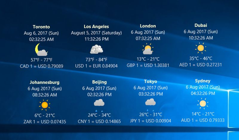 magayo WET (Weather, Exchange rate, Time) Screen shot